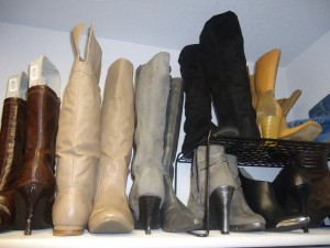 boots shoe organization and storage
