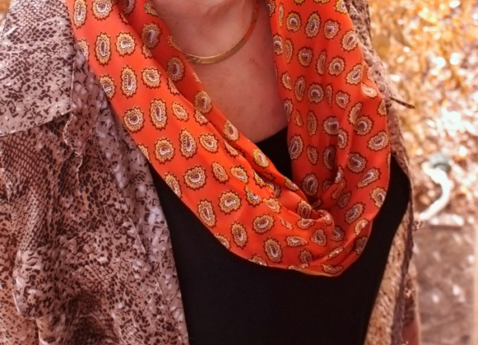 orange & animal prints