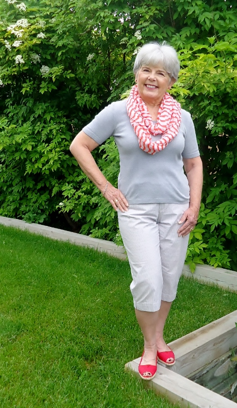 Different Scarves with T-shirts for Women over 50