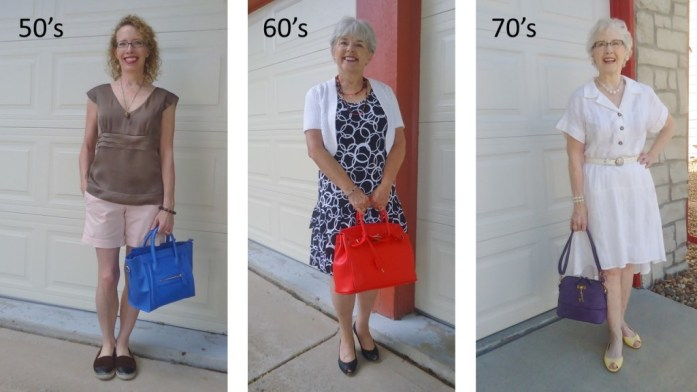 Bright Handbags for the 50's, 60's, & 70's
