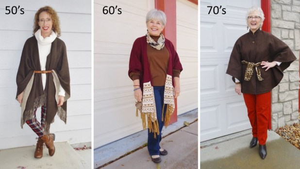Capes & Ponchos for the 50, 60 & 70 year old women