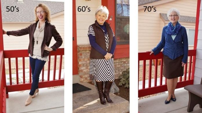Brown with Navy for the 50's, 60's, & 70's.
