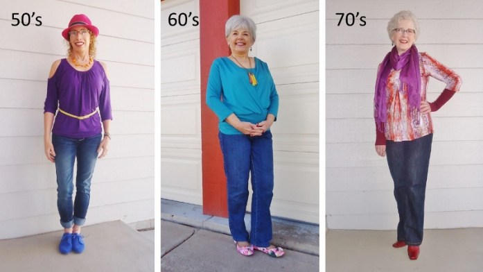 covered perfectly shirts for the 50, 60 & 70 year old women.