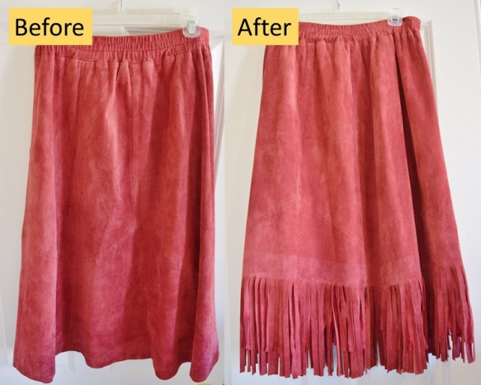 How to make your own Fringe Skirt.