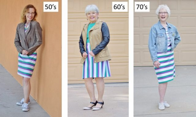 T-Shirt Dress for Women in their 50's, 60's & 70's.