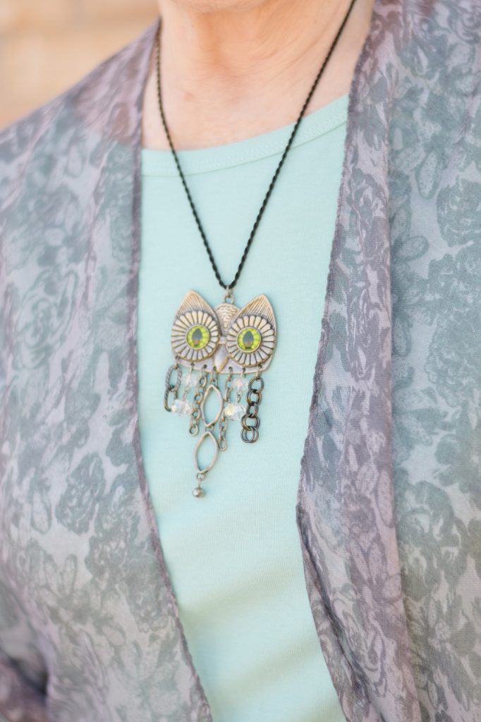Owl necklace to match the outfit
