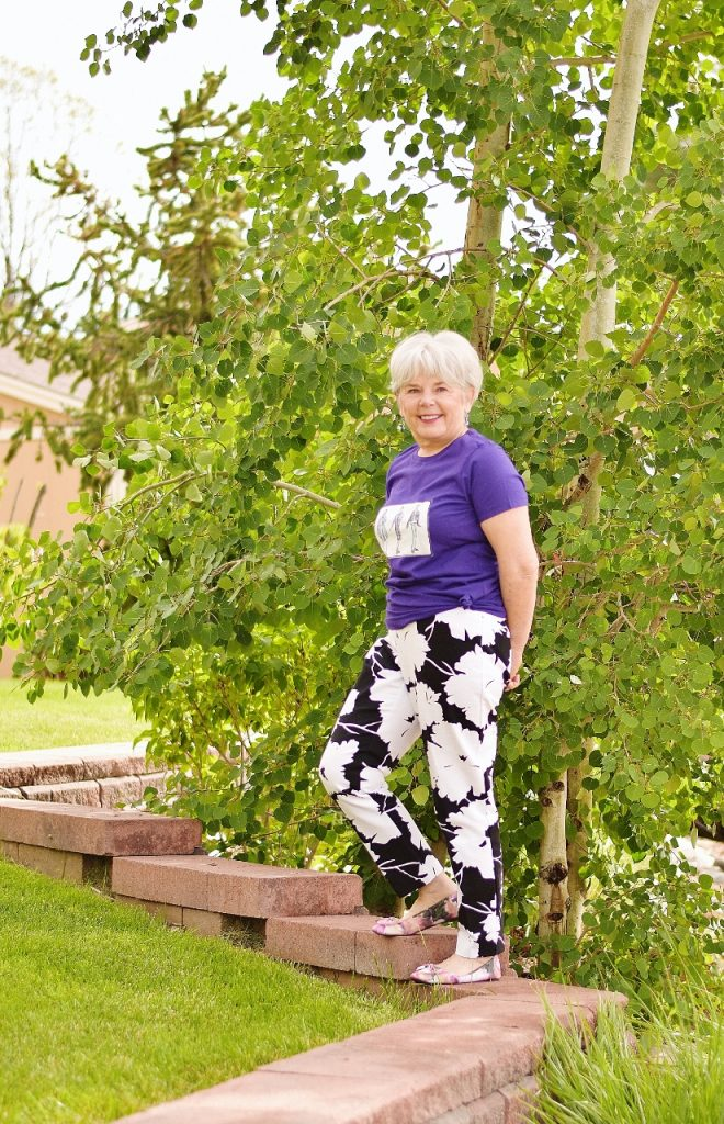 Styling a t-shirt for women over 60