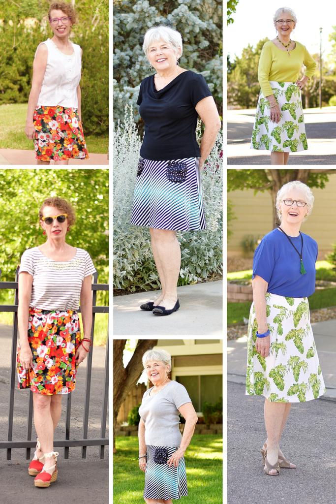 A skirt styled classic and modern