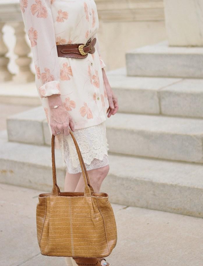 Dress extender under a duster