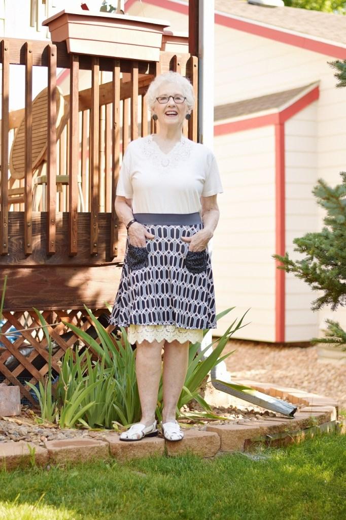 dress extender under a skirt for Woman 70+