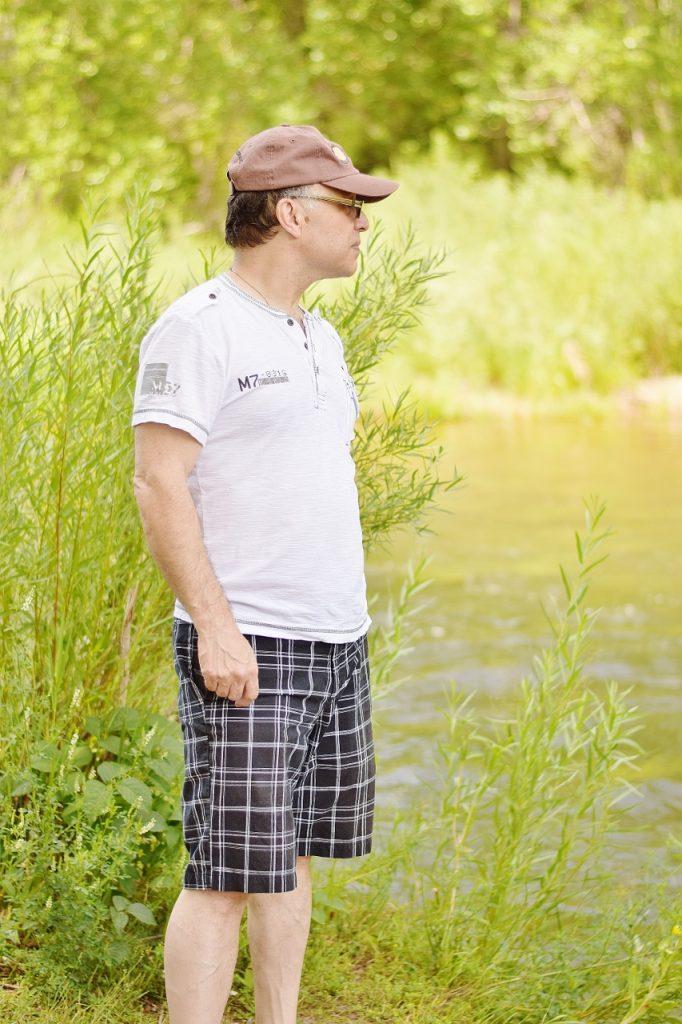 Summer mens fashion with shorts