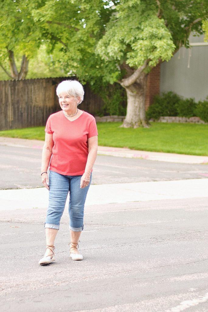 Women 60+ with athletic capri style