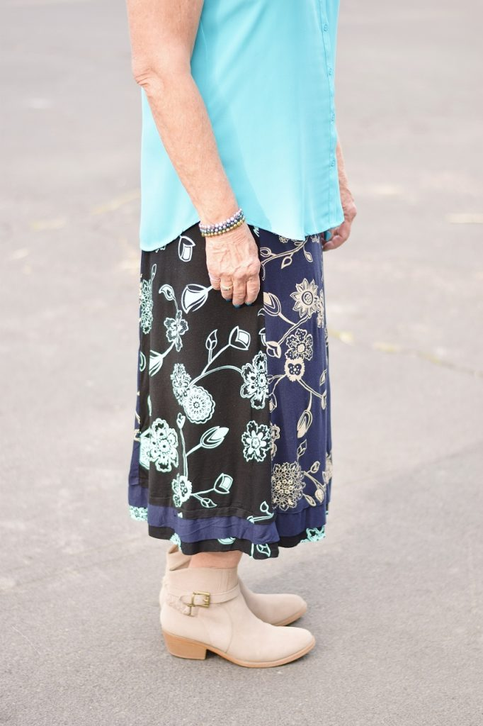 Booties to transition a summer skirt
