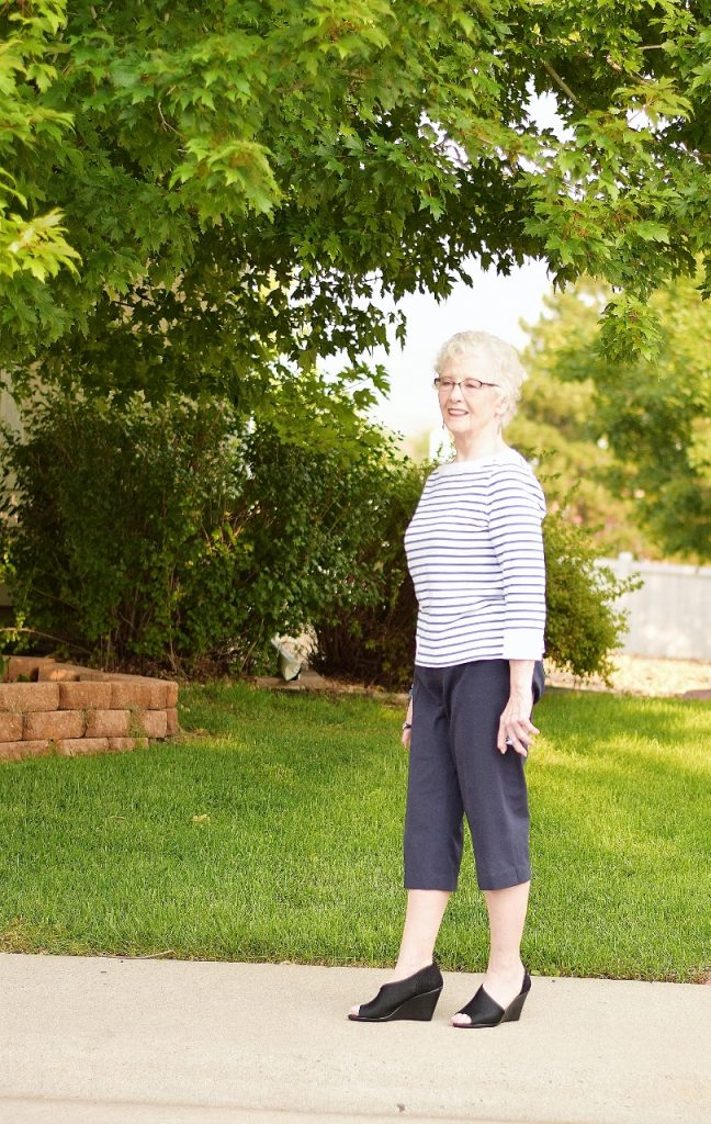 Women over 70 and Capris with a French Chic Look