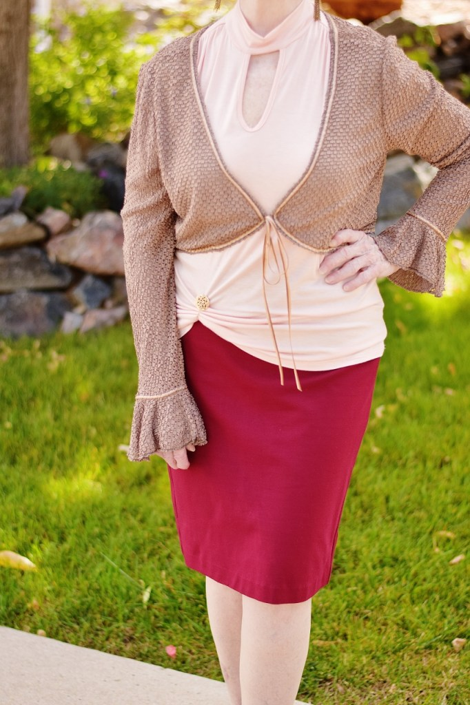 Blush and burgundy for cooler weather