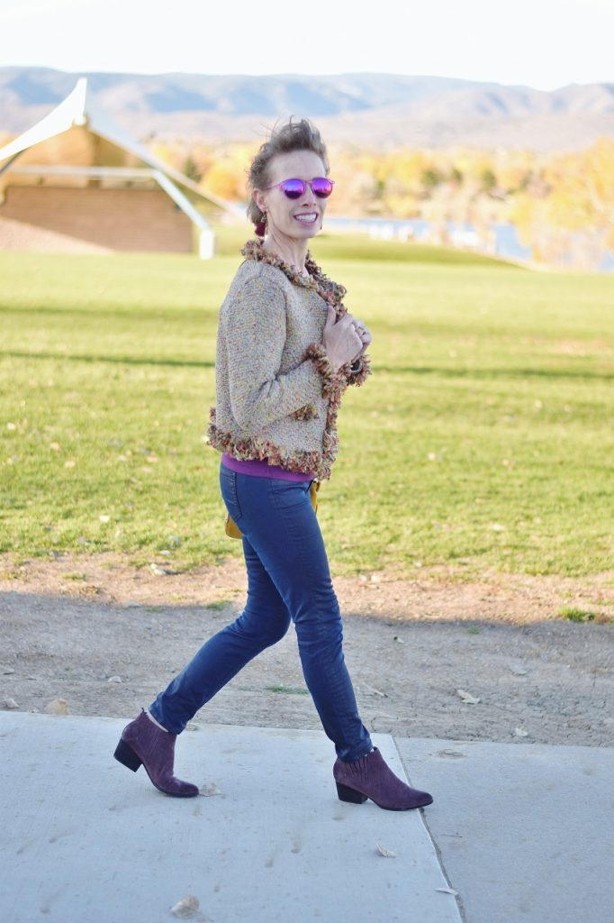 Sweater weather in fall for women