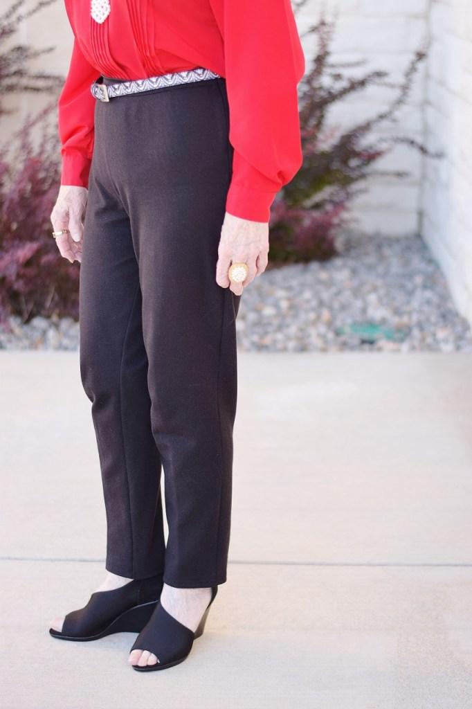 Black pants for older women
