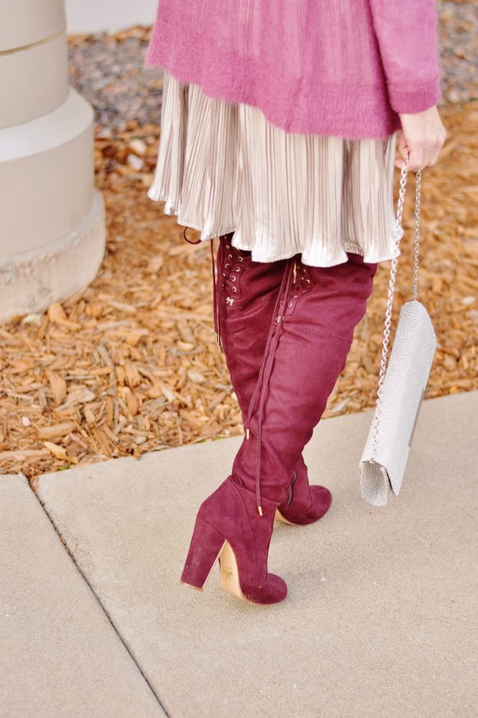 Dressing up for the holidays with OTK boots