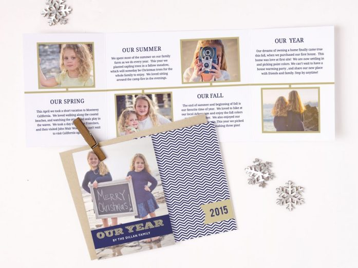 trifold holiday cards