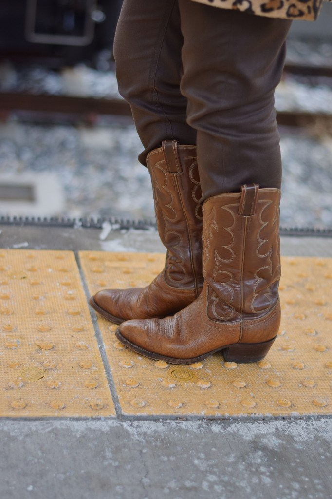 Cowboy boots as a retro piece of clothing