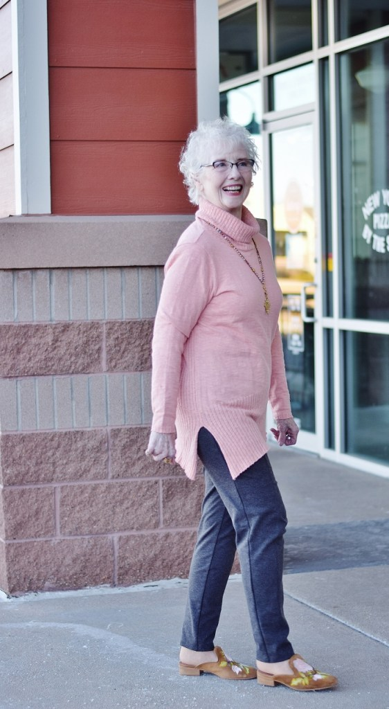 Sweater Weather fashioned for women in their 70's
