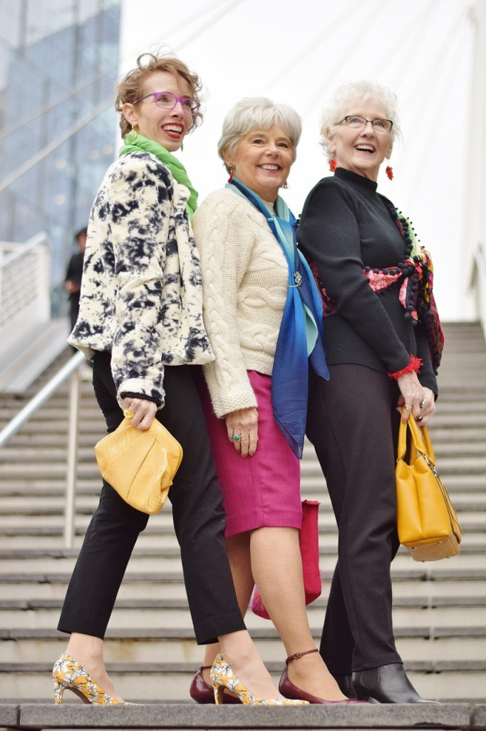 Over Accessorized Style for 3 generations of ladies