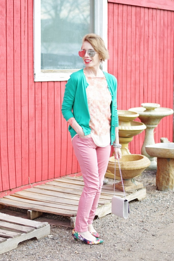How to style Pink and Green for women in their 50's