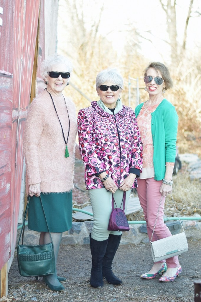 Pink and Green for women in their 50's and older