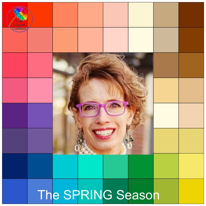 Your colors for a spring season color family woman