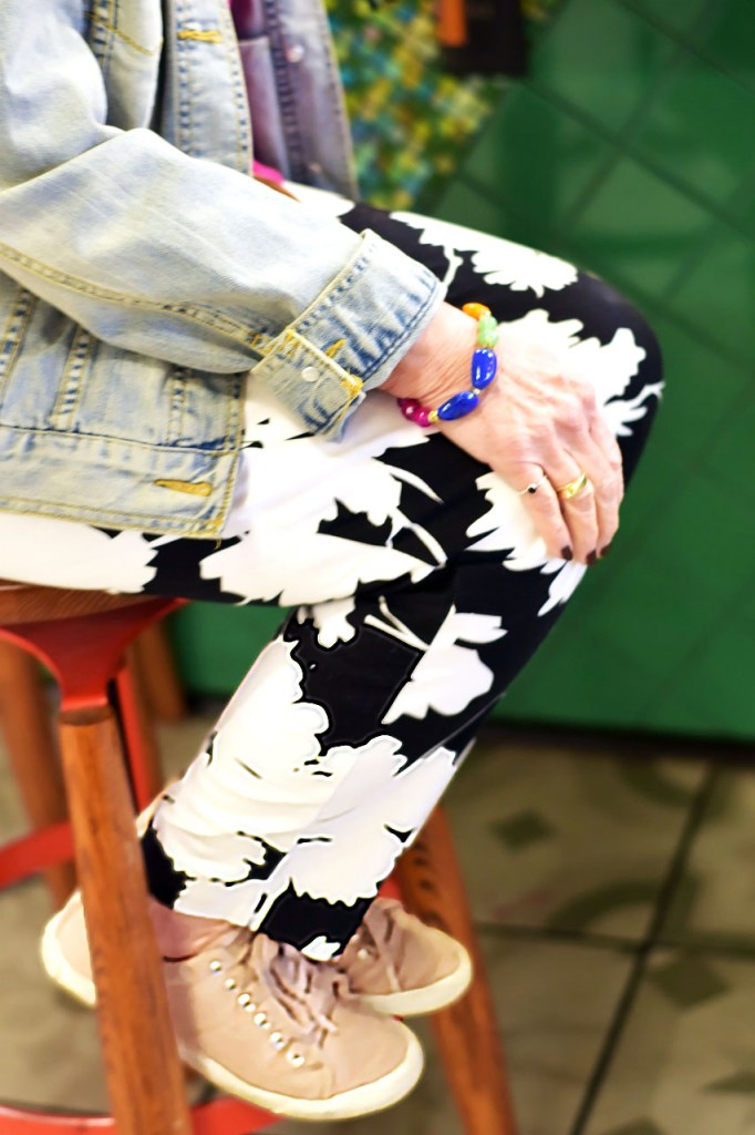 How to style denim jackets for women with print pants