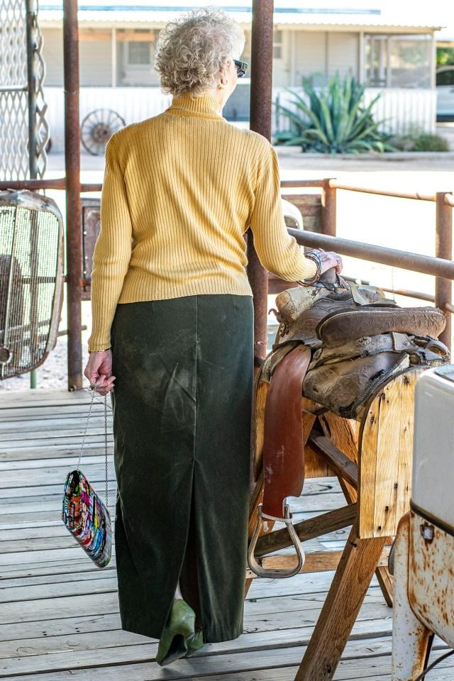 Skirt and turtleneck