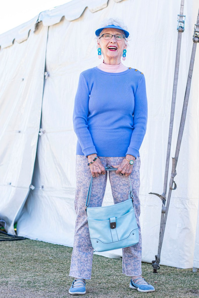 Woman over 80 in casual style