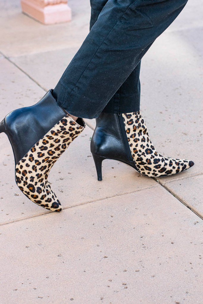 Leopard booties for the win