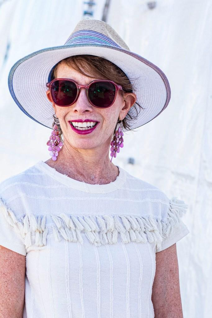 Straw hat for older women