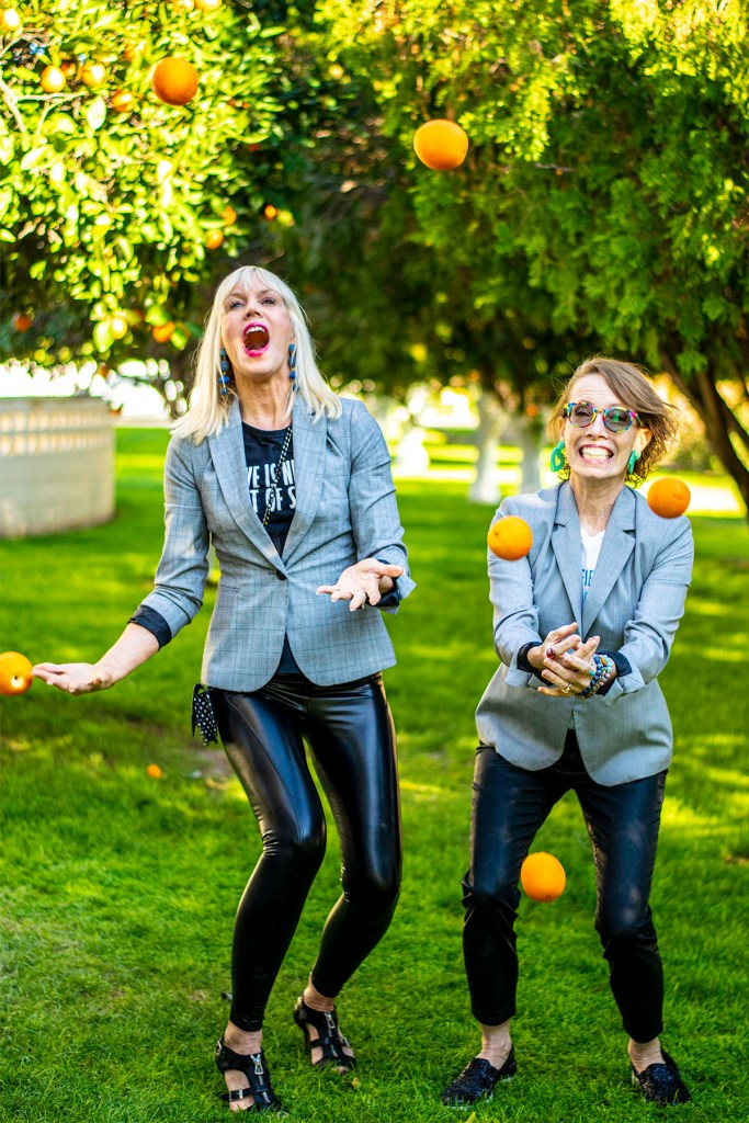 Juggling oranges in February