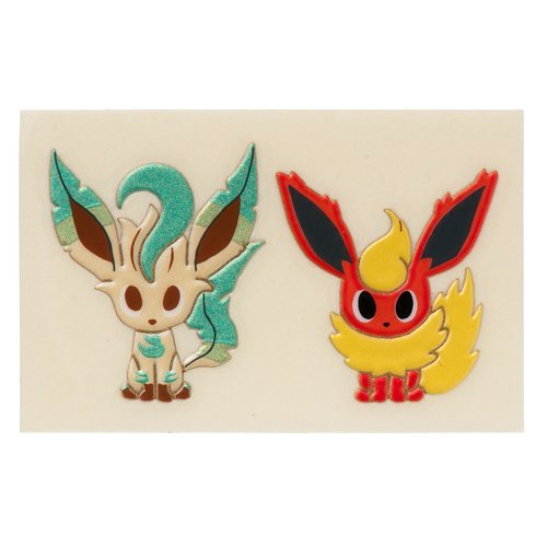 Pokemon Time Eevee Collection Transfer sticker – Flareon & Leafeon