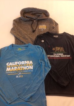 Race shirt and other expo goodies.