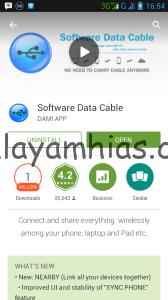 Instal Conection Data Cable dengan mengunduhnya di Play Store