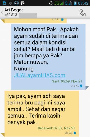 Testimonial Bapak Ari Bogor