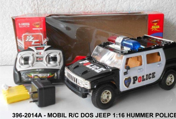 396-2014A - Mobil Rc Dos Jeep 1-16 Hummer Police