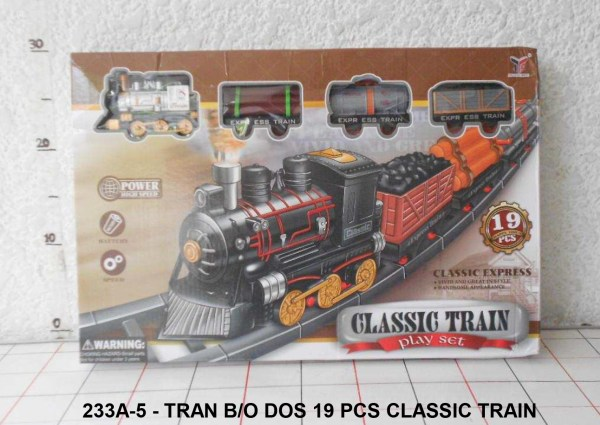GROSIR MAINAN TRAIN 19 PCS CLASSIC TRAIN