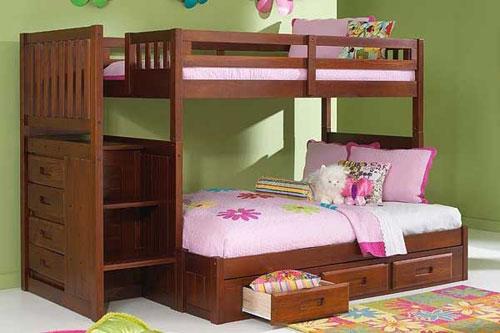 Tempat Tidur Anak Tingkat Minimalis Laci