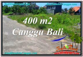 TANAH MURAH di CANGGU BALI 400 m2  Lingkungan villa & Hotel