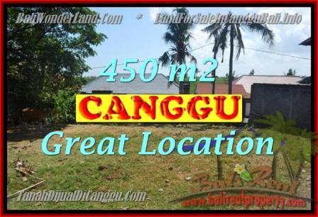 TANAH MURAH di CANGGU JUAL 450 m2 View Sawah, lingkungan villa