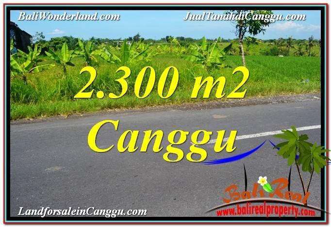TANAH di CANGGU BALI DIJUAL MURAH 23 Are View sawah,gunung, lingkungan villa