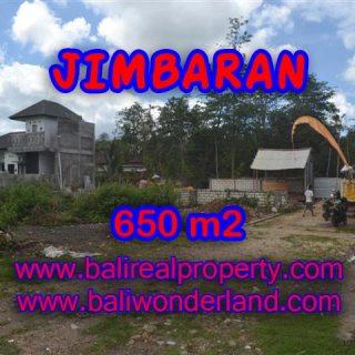 Tanah di Jimbaran Bali dijual 650 m2 Lingkungan Elite di Jimbaran Ungasan