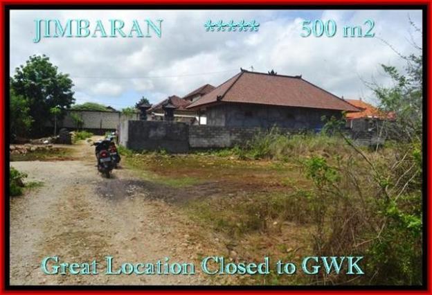 TANAH JUAL MURAH JIMBARAN BALI 500 m2 Lingkungan Villa