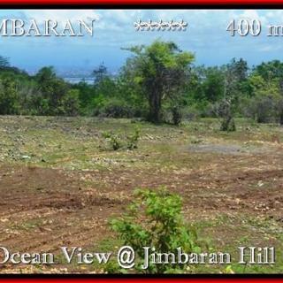 JUAL TANAH di JIMBARAN BALI 400 m2 View laut Lingkungan villa