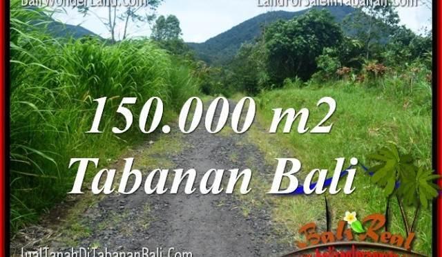 JUAL TANAH MURAH di TABANAN BALI 150,000 m2 View gunung dan sawah