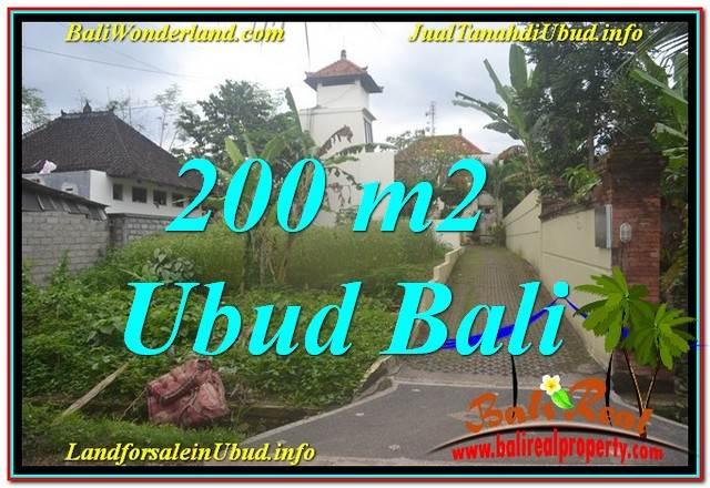 TANAH DIJUAL MURAH di UBUD BALI 200 m2 di Sentral / Ubud Center